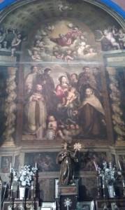 Altar en el oratorio de Nuestra Señora del Buen Parto (vulgo Ruzola) de Calatayud