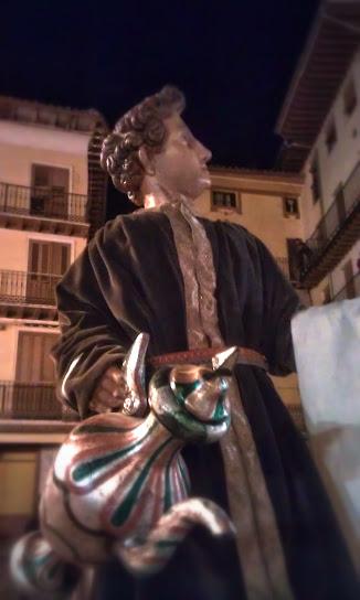 Sirviente paso peana última Cena Calatayud Semana Santa