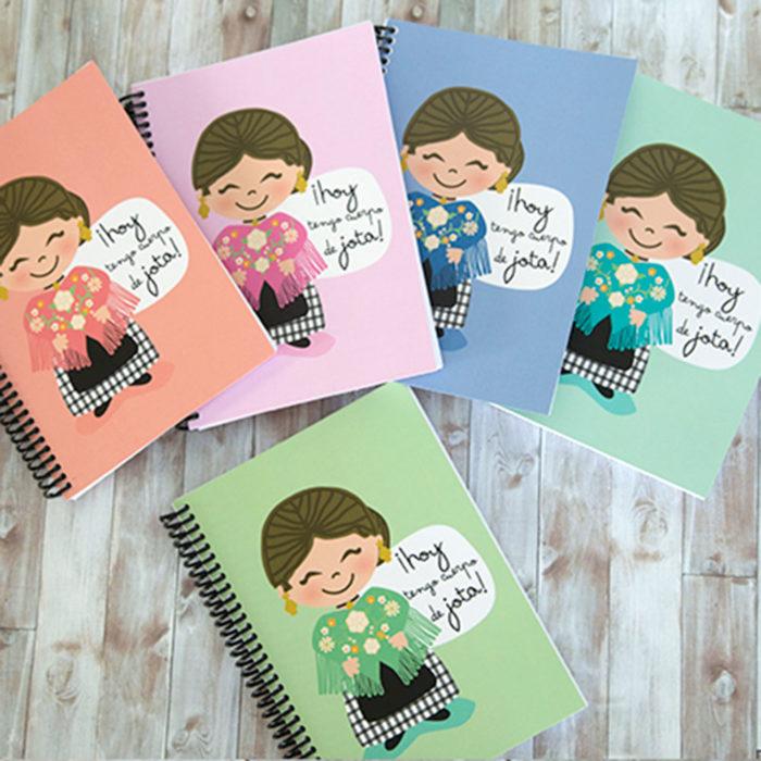 """Cuaderno """"Hoy tengo el cuerpo de Jota"""" Baturra"""