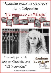 """Cartel de la exposición """"Permanezco en Málaga"""""""