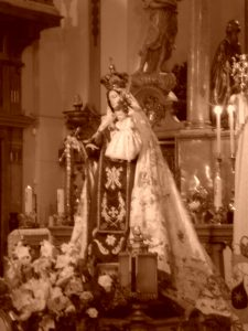 Virgen del Carmen en la Colegiata del Sepulcro de Calatayud