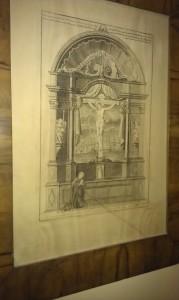 Posible representación del altar del Cristo de Ruzola