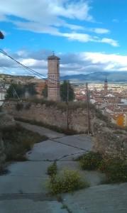 Vista de Calatayud desde el barrio de San Roque