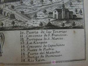 Plano en el que aparece el convento de Capuchinos de Calatayud