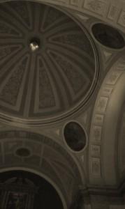 Detalle del interior del templo de los carmelitas descalzos