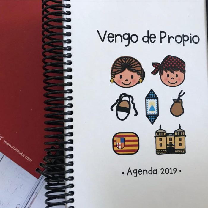 "Agenda 2019 ""Vengo de propio"" modelo Calatayud"
