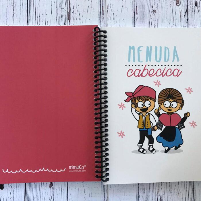 """Cuaderno """"Menuda cabecica"""""""