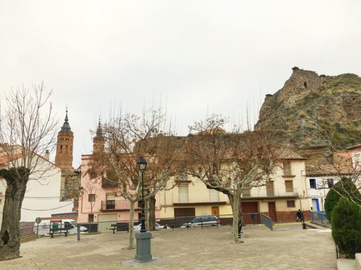 El curioso poste de la plaza de la leña de Calatayud